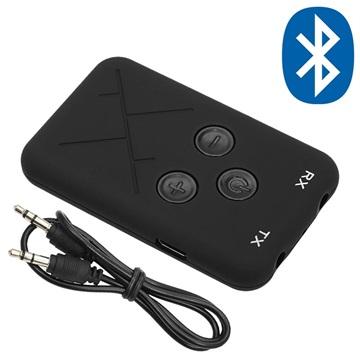 2-i-1 Bluetooth Sändare Mottagare/Trådlös 3.5mm Ljudadapter RX/TX