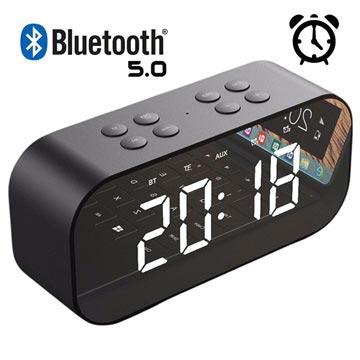 AEC BT501 Bluetooth Högtalare & LED Väckarklocka - Svart