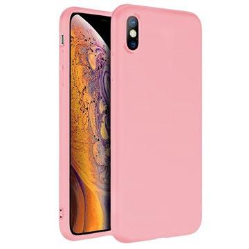 Anti-Fingeravtryck Matt iPhone XS Max TPU-skal - Rosa – iPhone XS ... 192b4733d997f