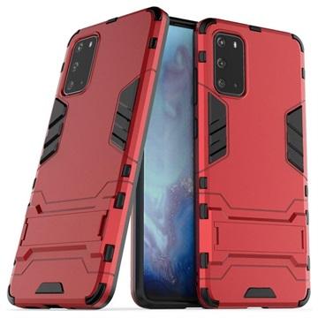 Armor Series Samsung Galaxy S20+ Hybrid Skal med Stativ - Röd