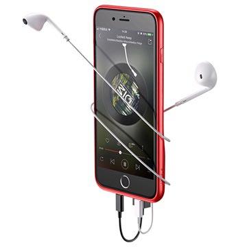 iPhone 7 Plus   8 Plus Baseus Dual Lightning Audio Skal - Röd 3359694d82127