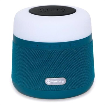 Bluetooth Högtalare med Qi Trådlös Laddare & RGB Led Lampa - Blå