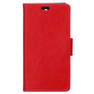 Sony Xperia M4 Aqua, M4 Aqua Dual Classic Plånbok Väska - Röd