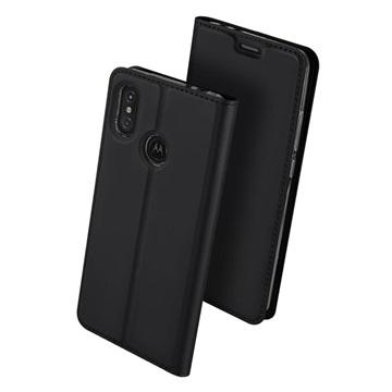 Dux Ducis Skin Pro Motorola One Power Flipfodral - Svart