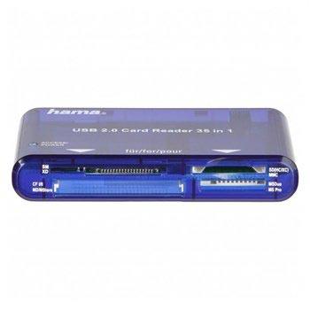 Hama USB 2.0 Kortläsare 35 i 1