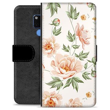 Huawei Mate 20 Premium Plånboksfodral - Blommig