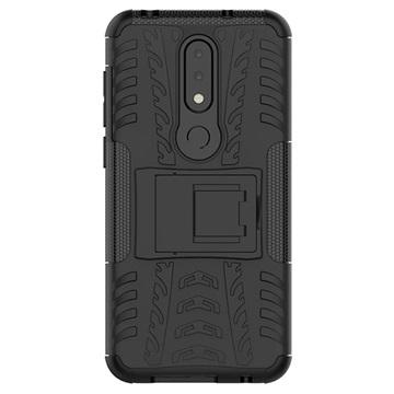Nokia 6.1 Plus Anti-Slip Hybrid Skal - Svart