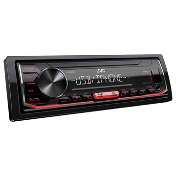 JVC KD-X262 AUX / USB Bilstereo - 4 x 22W - Röd / Svart