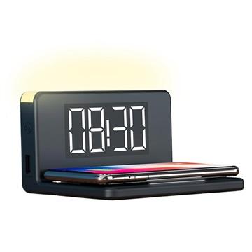 Ksix LED Väckarklocka med Trådlös Laddare och Nattlampa - 10W