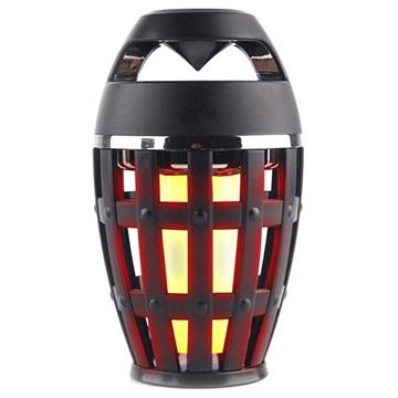 LED Flame Atmosphere Högtalare med Bluetooth S1 - Svart
