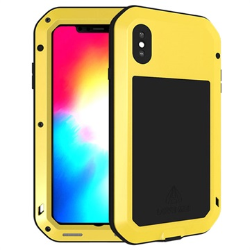 Love Mei Powerful iPhone XS Max Hybrid Skal - Gul – iPhone XS Max Fodral 58dd83b06810f
