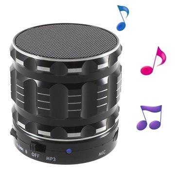 Metal Shell Mini Bärbar Bluetooth Högtalare S28 - Svart