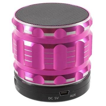 Metal Shell Mini Bärbar Bluetooth Högtalare S28 - Varmrosa