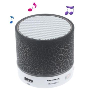 Mini Bluetooth Högtalare med Mikrofon   LED Ljus A9 - Sprucket Svart ... fd8d7fb56533a