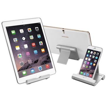 Flervinklad Aluminium Bordshållare för Smartphone/Surfplatta - 4-10