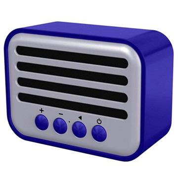 NewRixing NR-102 Retro Bluetooth Högtalare - 5W - Blå