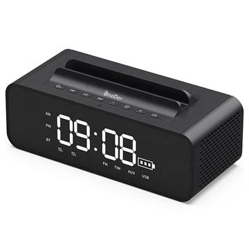 OneDer V06 Stereo Bluetooth Högtalare / Väckarklocka - 10W - Svart