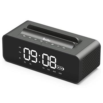 OneDer V06 Stereo Bluetooth Högtalare / Väckarklocka - 10W - Grå