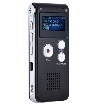 Bärbar Diktafon SK-012 - Svart