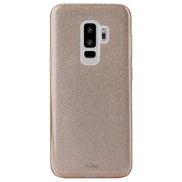 Samsung Galaxy S9+ Puro Shine Glitter TPU-skal - Guld 2ad8efec60202