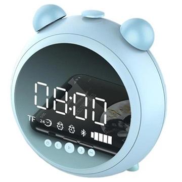 Retro Bluetooth Högtalare med FM Radio & LED Väckarklocka JKR-8100 -