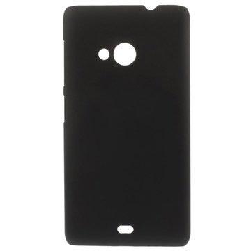 Microsoft Lumia 535, Lumia 535 Dual SIM Gummerat Hårt Skal - Svart