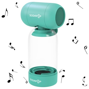 Sodapop Bass Bottle Bluetooth Högtalare - Grön