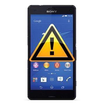 Sony Xperia Z3 Compact Bak Skal Reparation - Svart