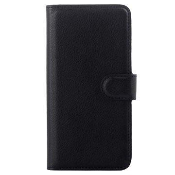 HTC Desire 626 Strukturerad Wallet Fodral - Svart