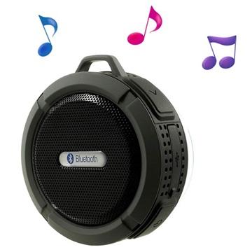 Vattentätt Bluetooth Högtalare med Sugkopp C6 - Grå / Svart