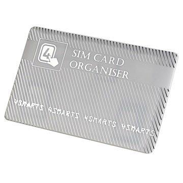 4smarts SIM Kort Hållare & Adapter Set - Silver