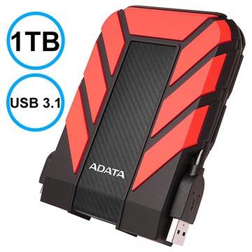 Adata HD710 Pro Vattentätt Extern Hårddisk - 1TB - Röd