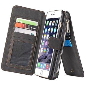 Caseme. iPhone 6 Plus 6S Plus Caseme Multifunktionell Plånbok Fodral - Svart 68f16e6ffb659