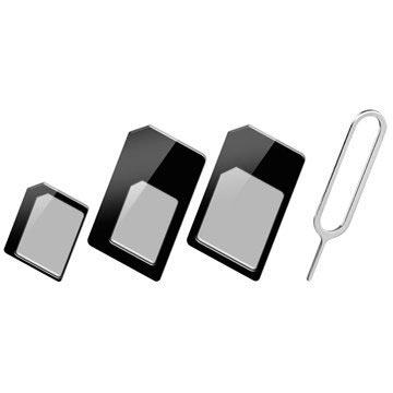 Goobay 3 in 1 SIM Kort Adapter Set