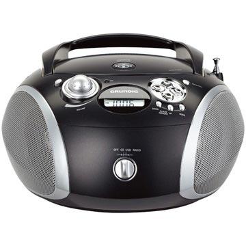 Grundig GRB 2000 Bärbar FM Radio - CD, WMA, MP3 - Svart / Silver