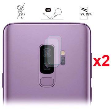 Hat Prince Samsung Galaxy S9+ Kameralins Härdat Glasskydd - 2 St.