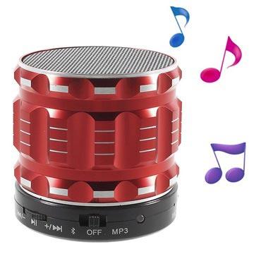 Metal Shell Mini Bärbar Bluetooth Högtalare S28 - Röd