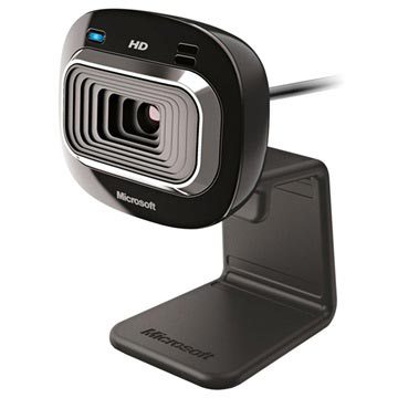 Microsoft LifeCam HD-3000 Webbkamera - 720p, TrueColor - Svart