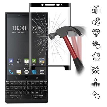 Mocolo Full Size BlackBerry KEY2 Härdat Glas Skärmskydd - Svart