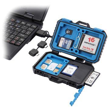 Puluz PU5004 Vatten-resistent USB Kortläsare & Kortfodral - Svart