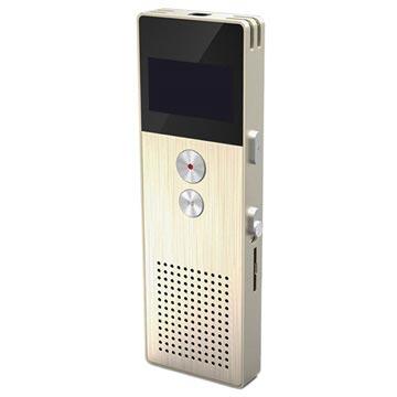 Remax RP1 OLED Diktafon - 8GB - Guld