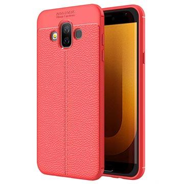 Slim-Fit Premium Samsung Galaxy J7 Duo TPU-skal - Röd