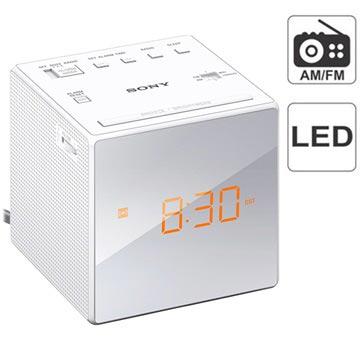 Sony ICF-C1 Klockradio - AM/FM - Vit