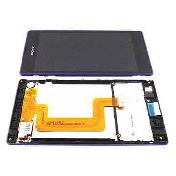 Sony Xperia T3 Fram Skal & LCD Display - Lila