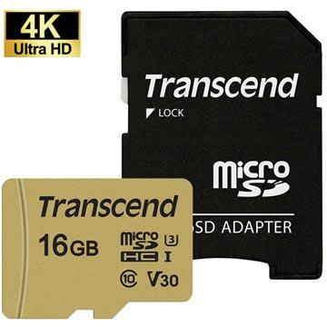Transcend 500S MicroSDHC Minneskort TS16GUSD500S - 16GB