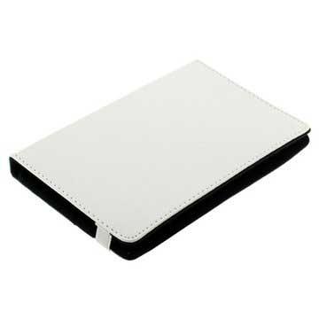 Universal Book Style Läderväska för Surfplatta - 7 - Vit
