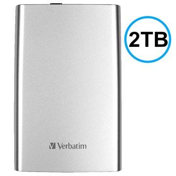 Verbatim Store 'n' Go USB 3.0 Extern Hårddisk - Silver - 2TB