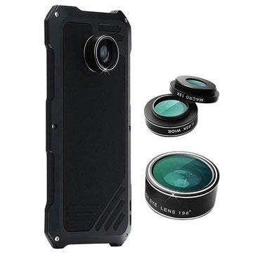 Samsung Galaxy S7 Edge Viking Skal med Kameralins-Set - Svart