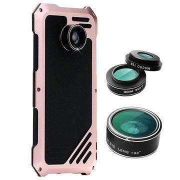 Samsung Galaxy S7 Edge Viking Skal med Kameralins-Set - Svart / Roség