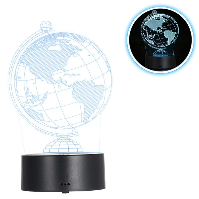 Premium 3D illusion Led Lampa Nattlampa 3W